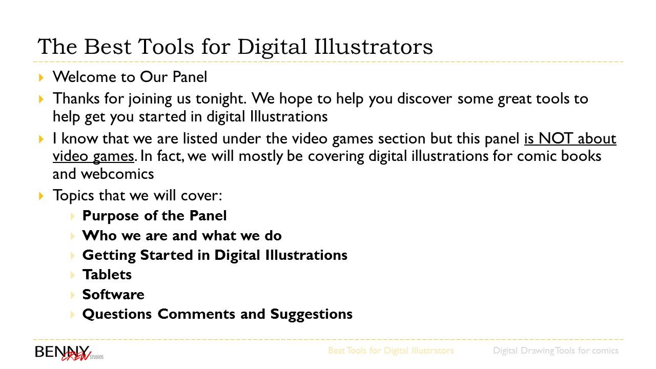 our montreal comiccon presentation benny crew studios slide1 slide2